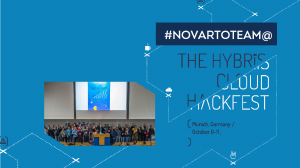 Novarto team at the hybris cloud hackfest